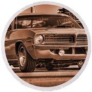1970 Plymouth Hemi 'cuda Round Beach Towel