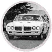 1970 Pontiac Gto Round Beach Towel