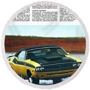 1971 Dodge Challenger T/a Round Beach Towel