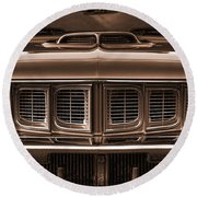 1971 Plymouth 'cuda 440 Round Beach Towel