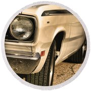 1971 Plymouth Duster 340 Four Barrel Round Beach Towel