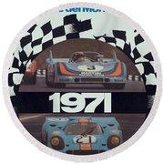 1971 Porsche World Champion Poster Round Beach Towel