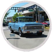 1972 Chevy C10 Bohall Round Beach Towel