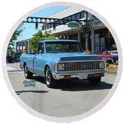 1972 Chevy C10 Bohall Round Beach Towel