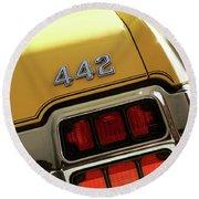 1972 Oldsmobile Cutlass 4-4-2 Round Beach Towel by Gordon Dean II