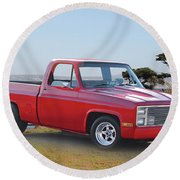 1973 Chevrolet C10 Fleetside Pickup I Round Beach Towel