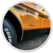 1973 Ford Mustang Round Beach Towel