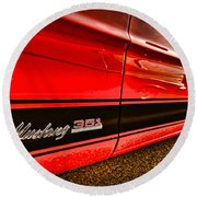 1973 Ford Mustang Mach 1 351 High Performance Round Beach Towel