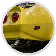 1976 Corvette Stingray Taillights Round Beach Towel