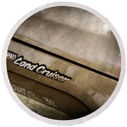 1978 Toyota Land Cruiser Fj40 Side Emblem -0543ac Round Beach Towel