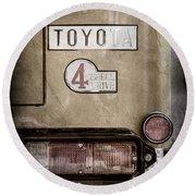 1978 Toyota Land Cruiser Fj40 Taillight Emblem -1191ac Round Beach Towel