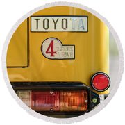 1978 Toyota Land Cruiser Fj40 Taillight Emblem -1191c Round Beach Towel