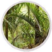 Jungle 94 Round Beach Towel
