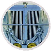 1985 Tiffany Coupe Grille Round Beach Towel