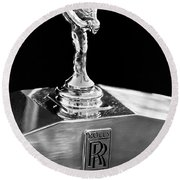 1986 Rolls-royce Hood Ornament 2 Round Beach Towel