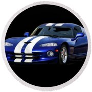 1995 Dodge Viper Coupe I Round Beach Towel