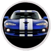 1995 Dodge Viper Coupe II Round Beach Towel