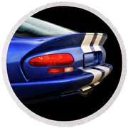 1995 Dodge Viper Coupe 'tail' Round Beach Towel
