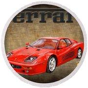 Ferrari F 512m 1995 Round Beach Towel
