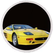 1995 Ferrari F512m Round Beach Towel