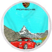 1997 Porsche 993 Twin Turbo R  Round Beach Towel