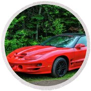1998 Pontiac Firebird Trans Am Round Beach Towel