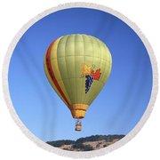 1b6347 Sonoma Thunder Hot Air Balloon Round Beach Towel