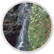 1b6353 Falls On Sonoma Mountain Round Beach Towel