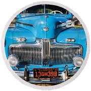 1942 Ford Super Deluxe Sedan Painted  Round Beach Towel