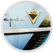 1953 Lincoln Capri Emblem Round Beach Towel