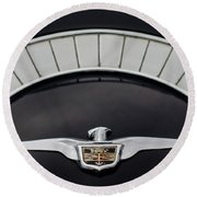 1958 Chrysler Imperial Emblem Round Beach Towel