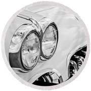 1959 Chevrolet Corvette Grille Round Beach Towel