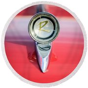 1961 Rambler Hood Ornament Round Beach Towel