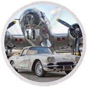 1962 Chevrolet Corvette Round Beach Towel
