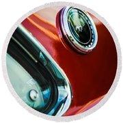 1969 Ford Mustang Mach 1 Emblem Round Beach Towel by Jill Reger