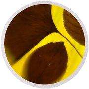 3 Leaves Series Round Beach Towel