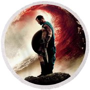 300 Rise Of An Empire 2014 Round Beach Towel