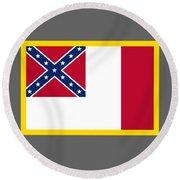 3d Confederate Flag Round Beach Towel