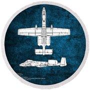 A-10 Thunderbolt II  Round Beach Towel