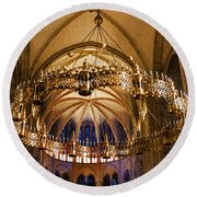 Abbey Of Saint - Remi Reims Round Beach Towel