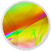 Abstract Colours. Round Beach Towel
