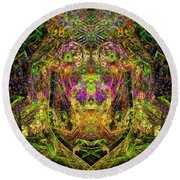 Abstract Graphics Round Beach Towel