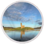 Ardvreck Castle - Scotland Round Beach Towel