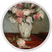 After Manet Round Beach Towel