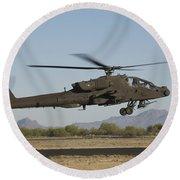 Ah-64d Apache Longbow Lifts Round Beach Towel