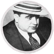 Al Capone Round Beach Towel