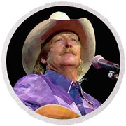 Alan Jackson Round Beach Towel