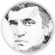 American Legend Johnny Cash Round Beach Towel