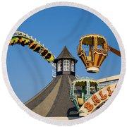 Amusement Park Round Beach Towel