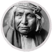 Apache Man, C1906 Round Beach Towel